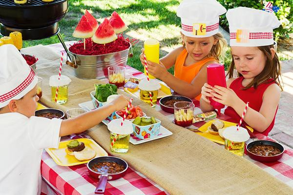 Kids Garden Party Ideas Kids birthday party ideas i love this make your own burger station the kids would love it workwithnaturefo
