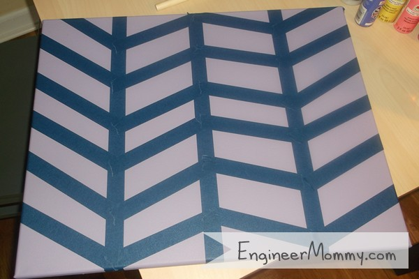 DIY Herringbone Art