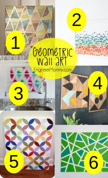 Geometric DIY Wall Art Ideas