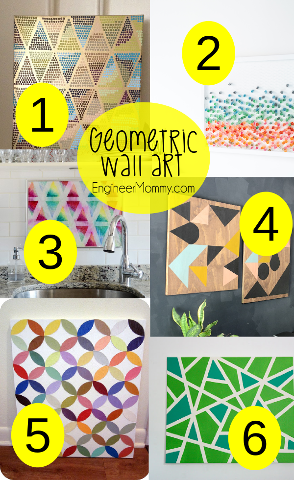 DIY Geometric Wall Art Ideas