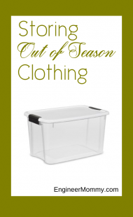 How to Store Out of Season Clothes