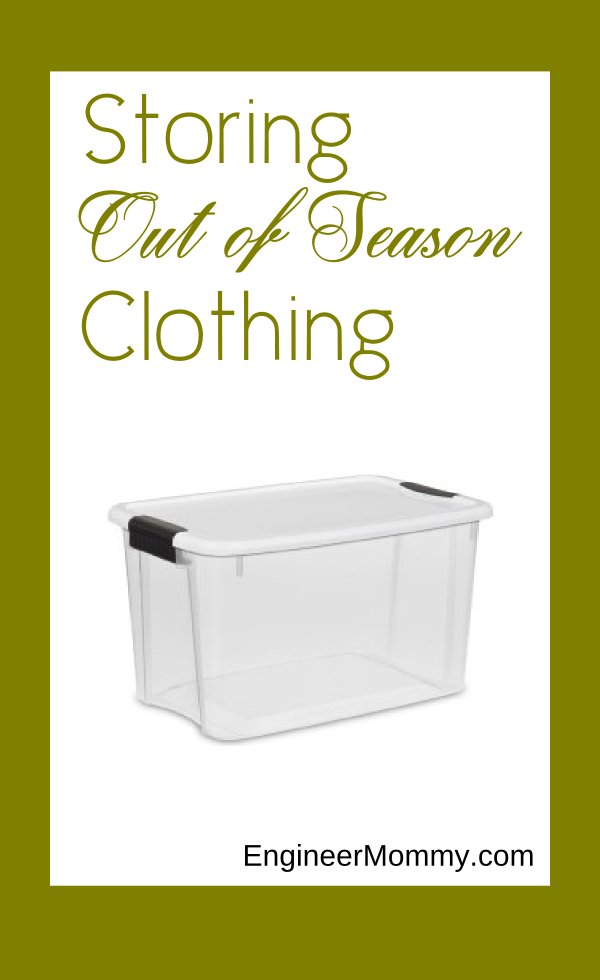 Storing Out of Season Clothing