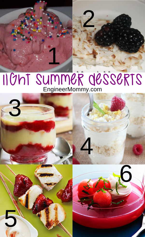 Light Summer Desserts