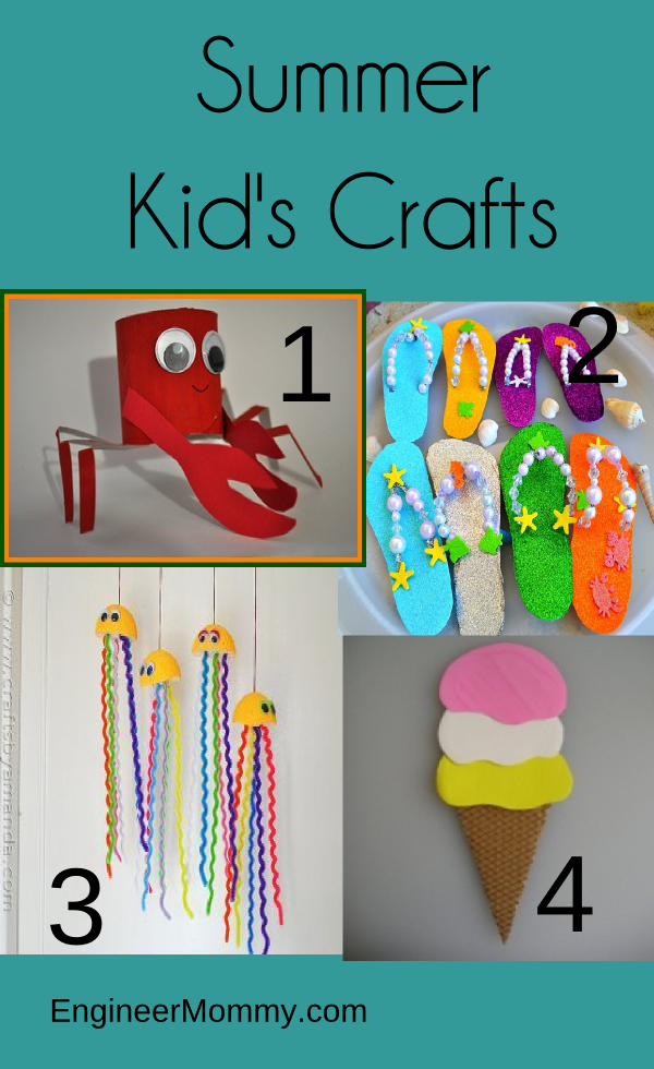 Summer kids' crafts
