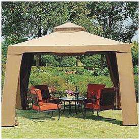 Secure Gazebo Canopy