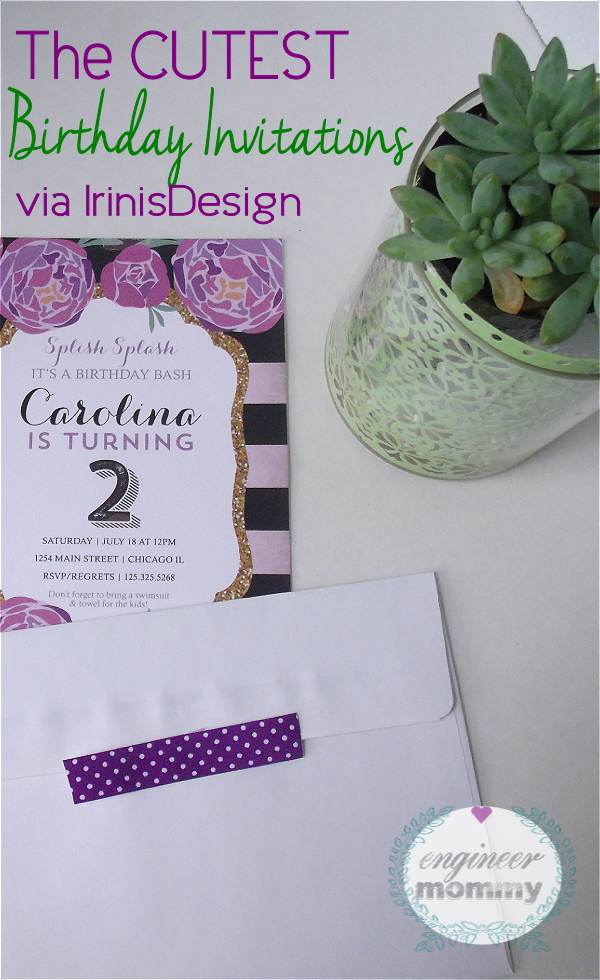The cutest birthday invitations via IrinisDesign