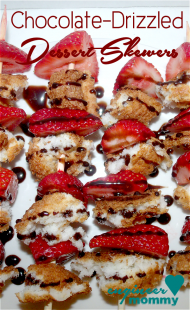 Chocolate-Drizzled Strawberry Dessert Skewers