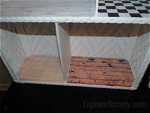 DIY Dollhouse Part 2: Adding Wallpaper and Flooring