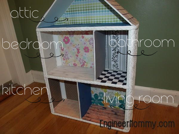 DIY Dollhouse Part 2: Wallpaper and Floors