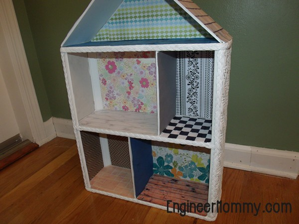 DIY Dollhouse Part 2: Adding Wallpaper, Flooring and Roof Shingles