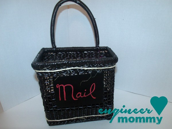 DIY Mail Organizer Basket