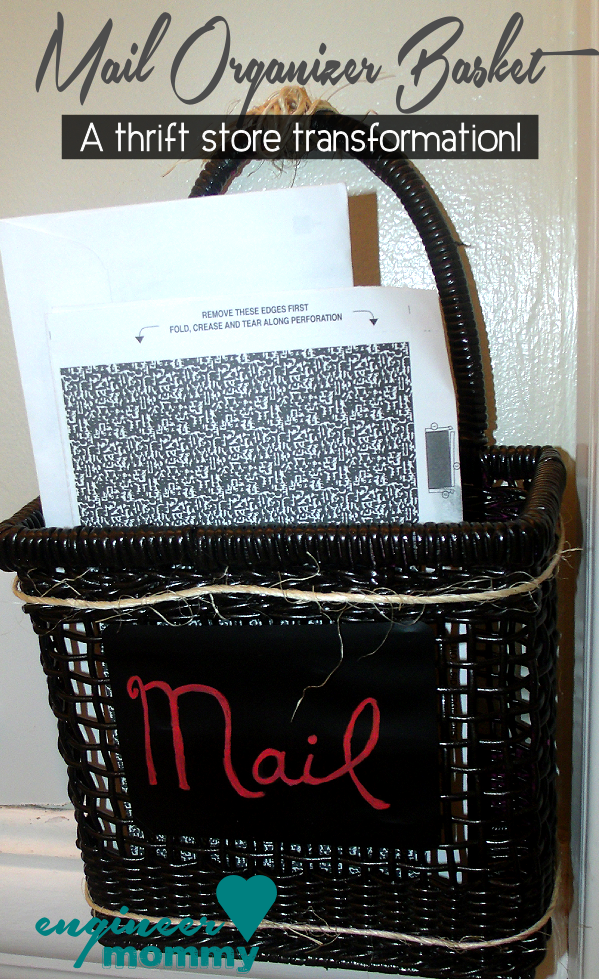 Easy DIY Mail Organizer Basket