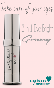 Take care of your eyes: 3 in 1 Eye Bright Giveaway