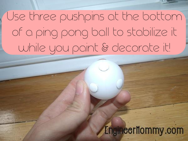 DIY Ping Pong Ball Monster Kid Craft