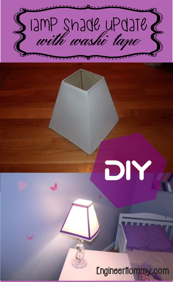 Add Washi Tape to Lamp Shade
