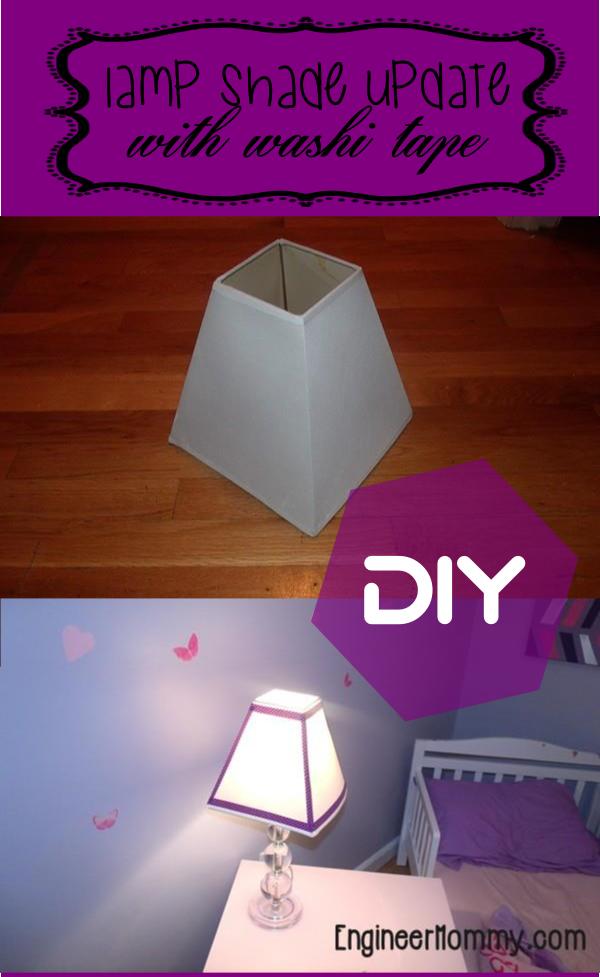 Add Washi Tape to Lamp Shade