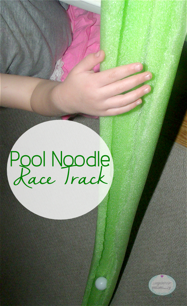 Pool Noodle RaceTrack {Easy Kid's Craft}