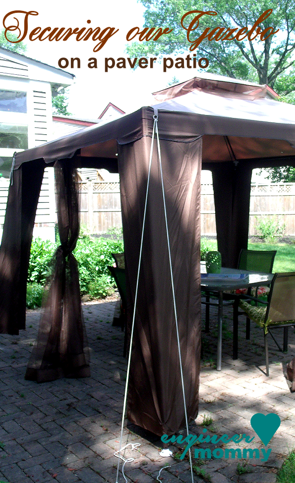 Secure a gazebo canopy & Tips to Secure a Gazebo Canopy on a Paver Patio