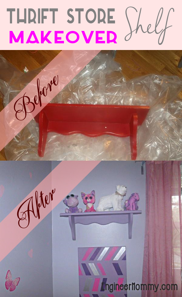 Thrift Store Shelf Makeover
