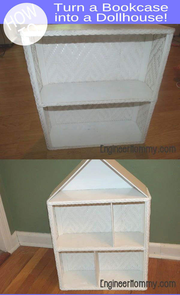 DIY Dollhouse: Turn Bookcase into a Dollhouse