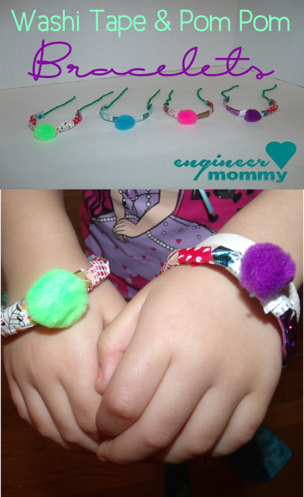 DIY Washi Tape & Pom Pom Bracelets