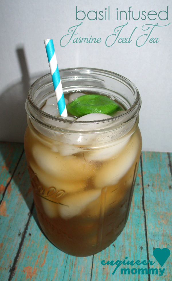 Basil Infused Jasmine Iced Tea