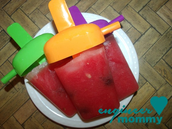 Cherry Watermelon Lemonade Popsicles