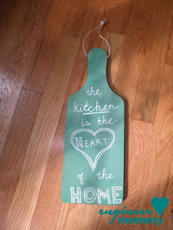 Cutting board chalkboard wall art