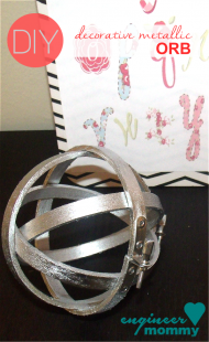 DIY decorative metallic orb sphere
