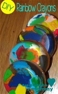 DIY Rainbow Crayon Discs