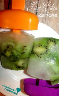 Kiwi citrus ice pops