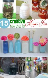 15 creative new ways to use mason jars