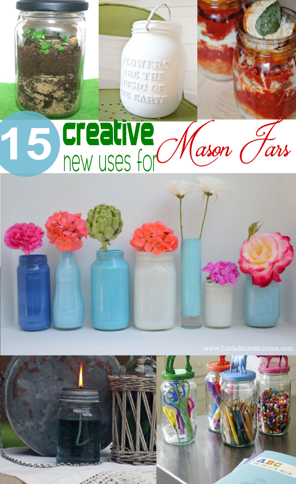 15 creative new uses for mason jars