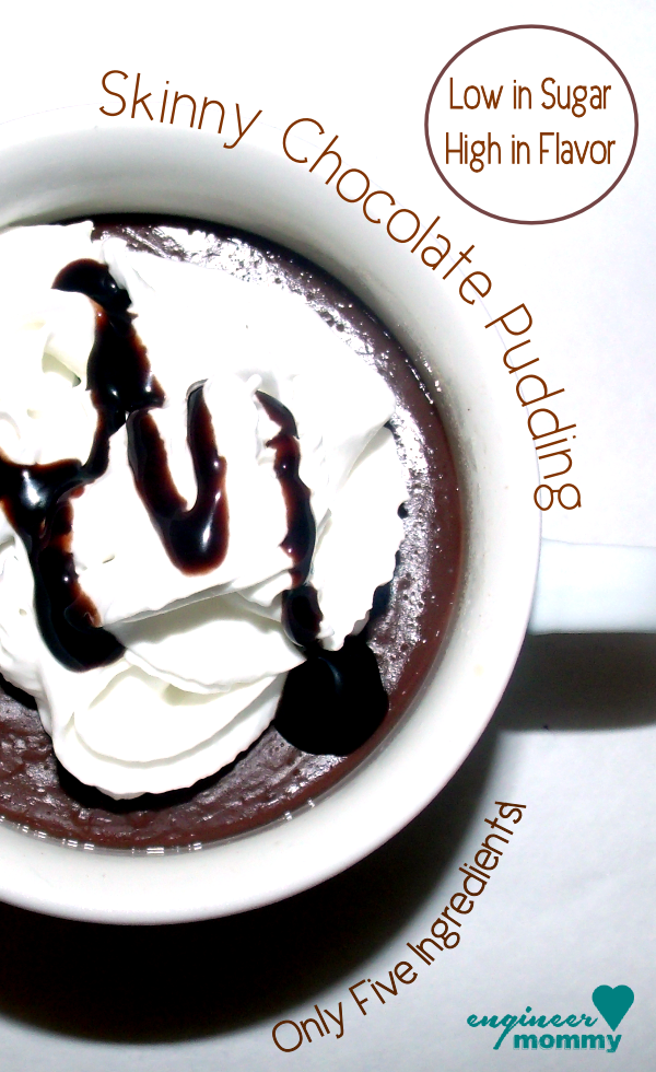 Skinny chocolate pudding