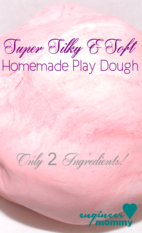 Super soft homemade playdough