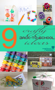 9 Clever & Crafty Back to School Ideas