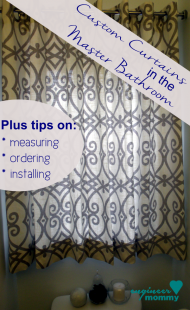 Master Bath Upgrade: Custom Window Treatments