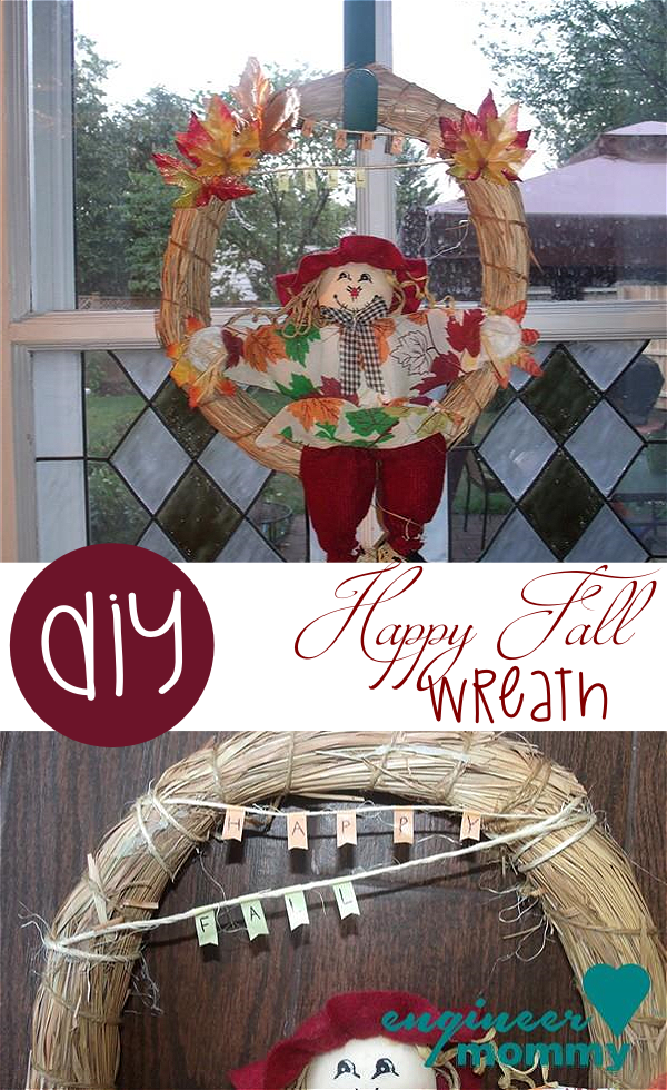 DIY Happy Fall Wreath