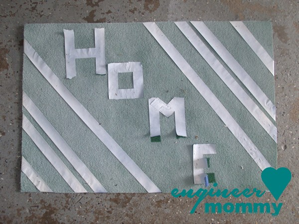 DIY Painted Door Mat
