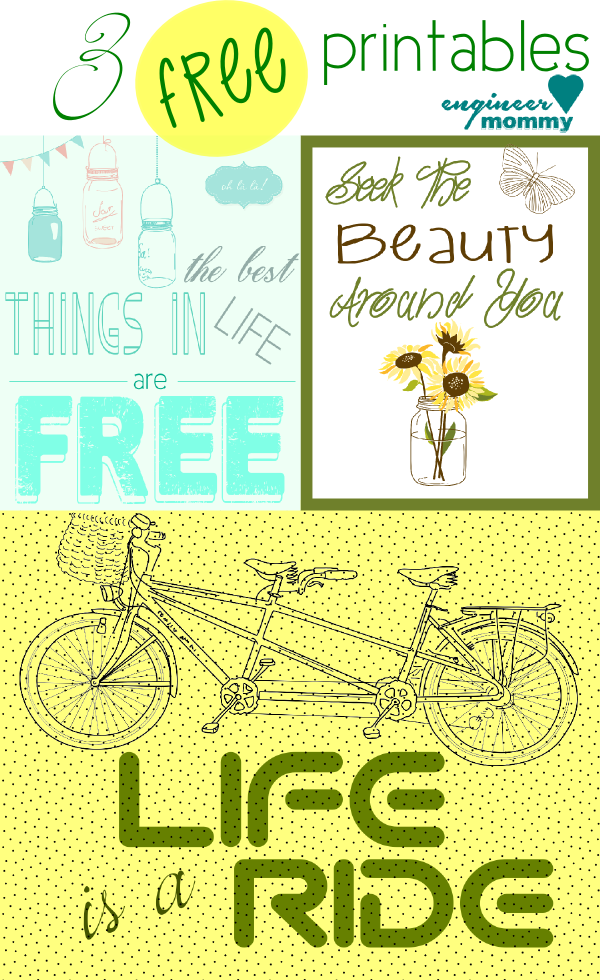 3 Free Printables for Wall Art