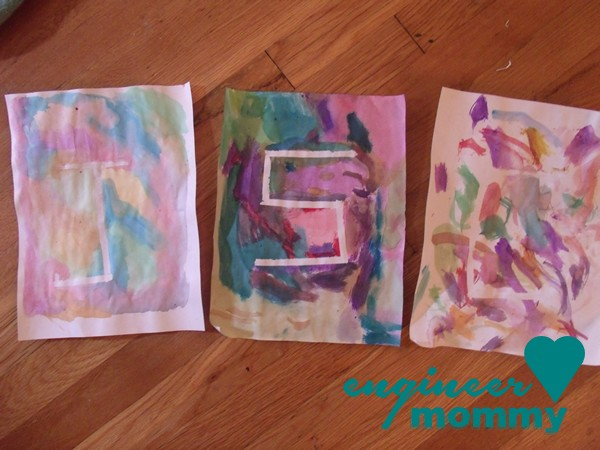 Initial Watercolor Paint Project for Kids