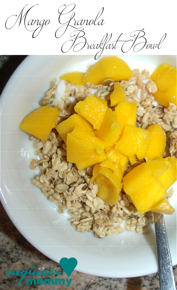 Mango Granola Breakfast Bowl (and tips on weight loss)