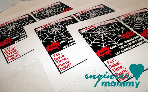 MARVEL Birthday Party Invitations
