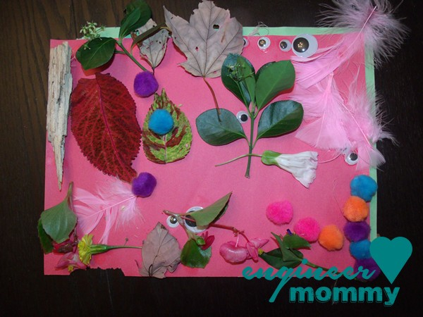 Nature Walk Collage {a kids' craft}
