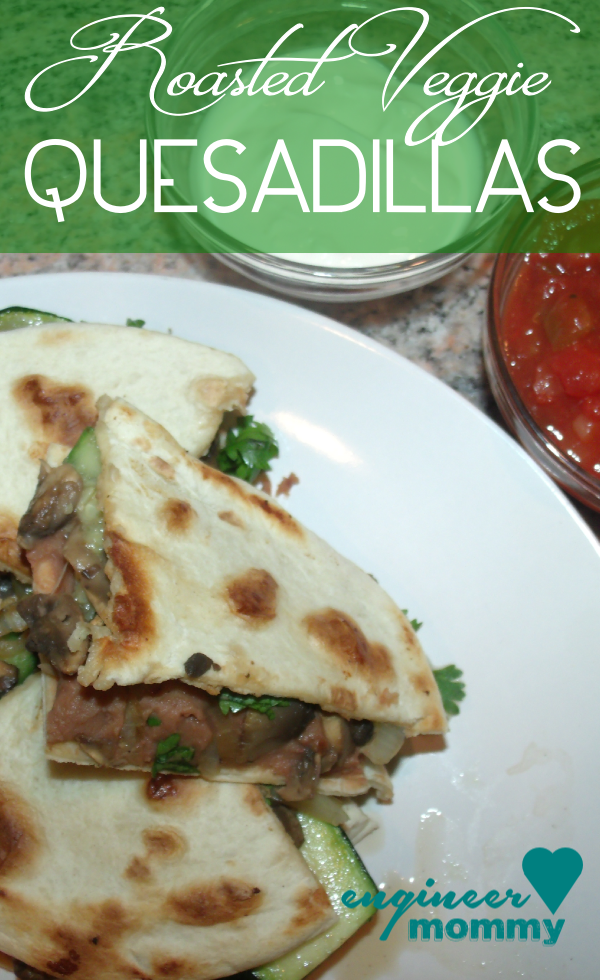 Grilled Vegetable Quesadillas {healthy!}