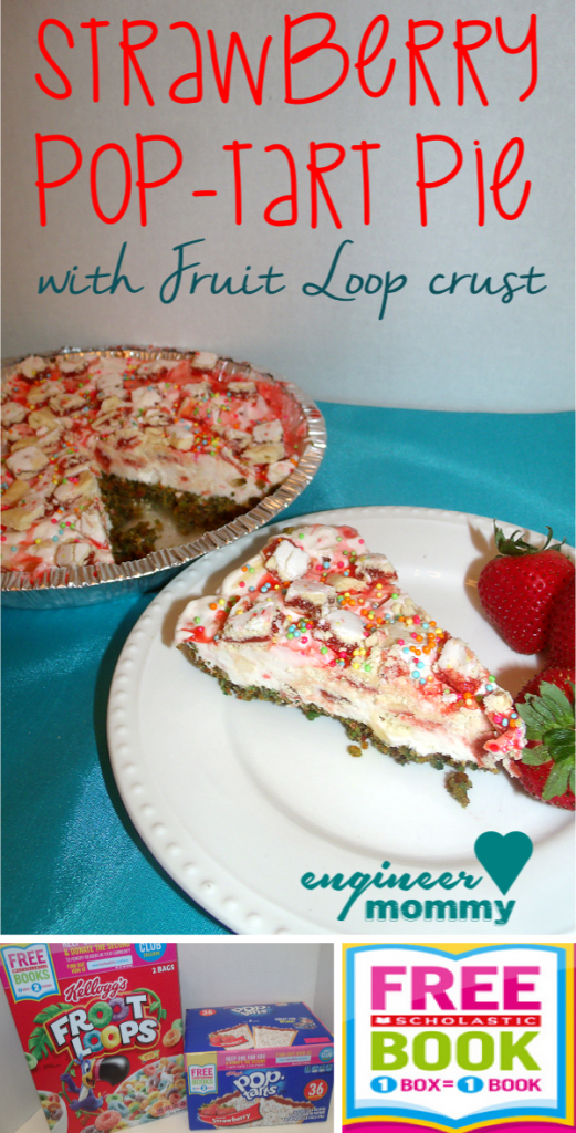 Strawberry Pop-tart Pie with Fruit Loop Crust