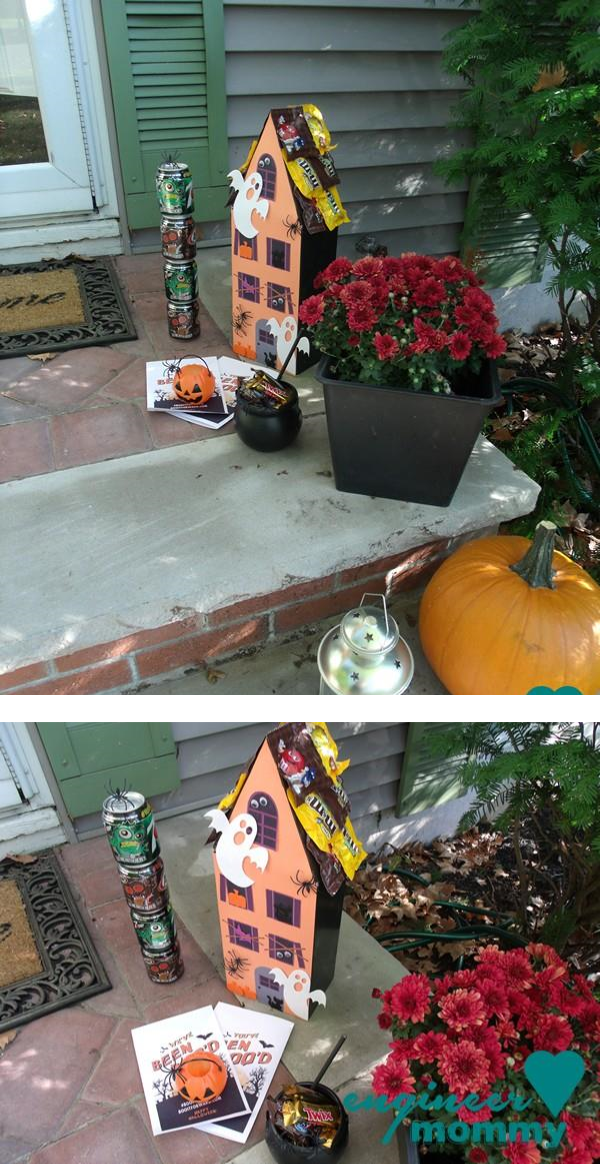 BOO Kit on our front porch