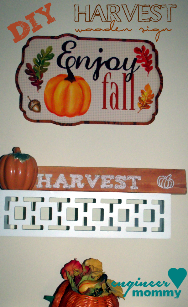 DIY Wooden Harvest Sign