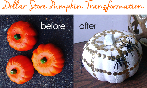 Dollar Store Pumpkin Transformation