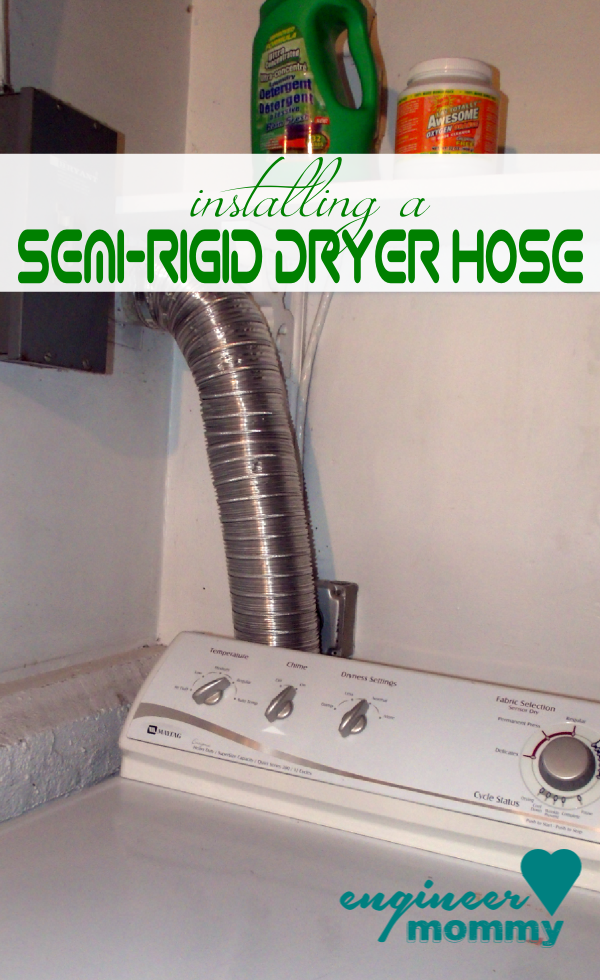 Installing a Semi-Rigid Dryer Hose to Prevent Fires